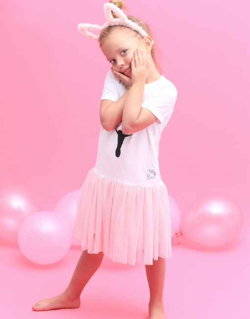 baletnica-sukienka-tiul-róż-różowa