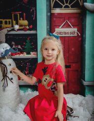 Sukienka świąteczna czerwona