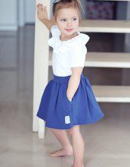 spódniczka dziewczęca niebieska
