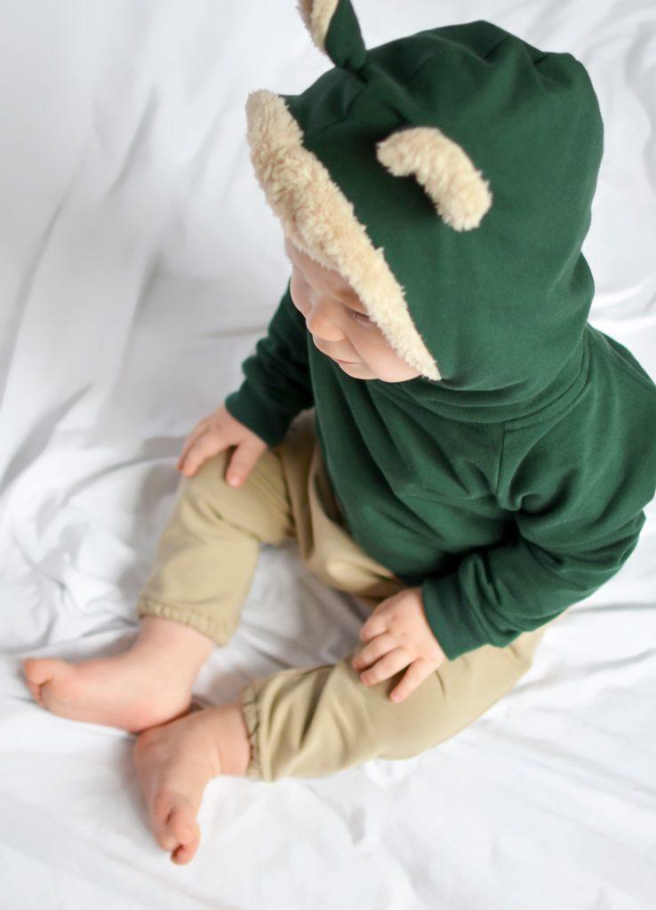spodnie niwmowlęce bezowe