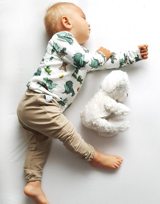 bluza-smoki-niemowlęce-spodnie-baggy-beżowe