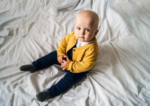 spodnie niemowlece szelki granatowe