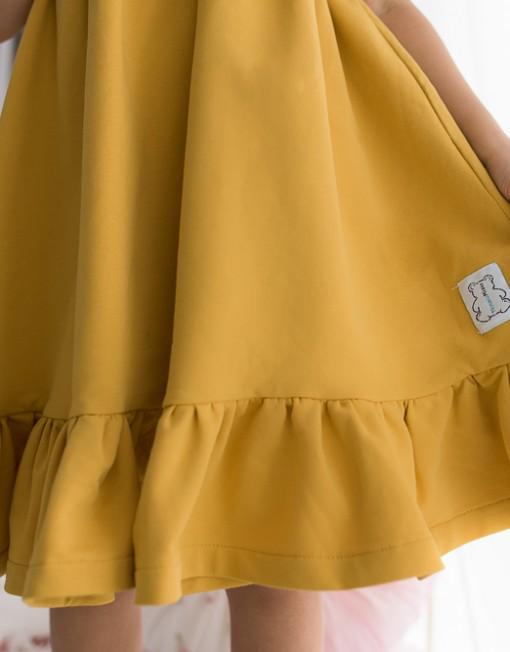 musztardowa-sukienka-falbanki-wiosna