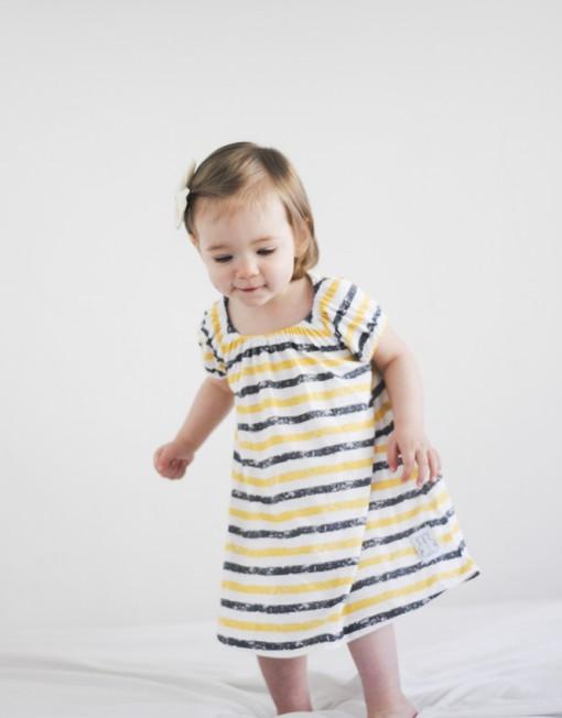 sukienka-letnia-paski-żółte