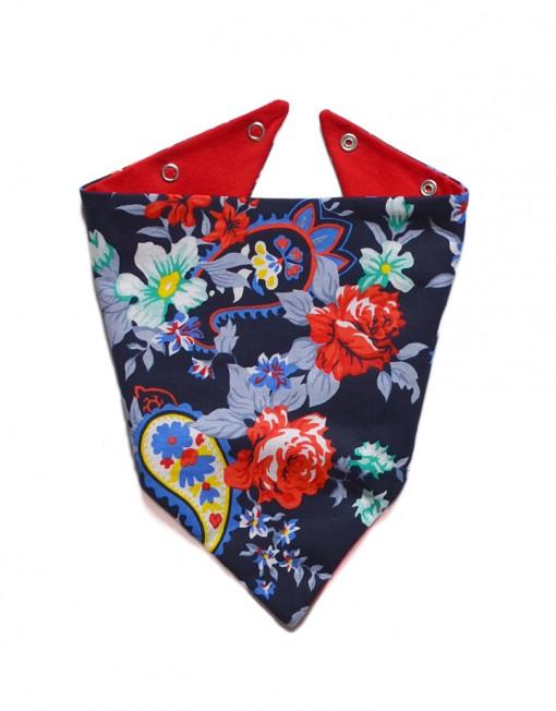apaszka-niemowleca-kwiaty-czerwona