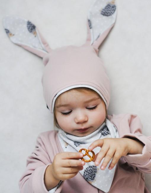 czapka-uszy-królika-apaszka-jeżyki-jeż-jeże