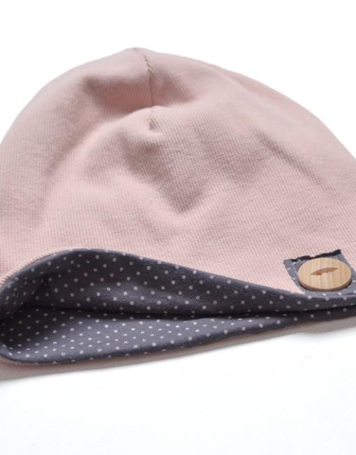 czapka-beanie-kropki-dladziewczynki-wiosna-jesienna