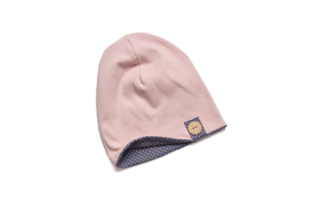 czapka beanie różowa