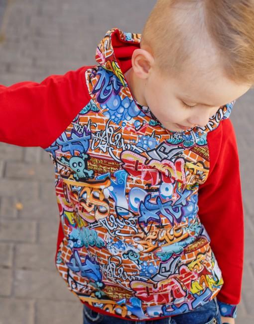bluza-czerwona-hoodie-wisoaenn-jesień