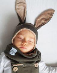 czapka zimowa dla noworodka chłopca