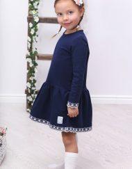 ekegancka sukienka dla dziewczynki granatowa