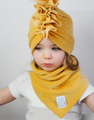 turban dla dziecka welur