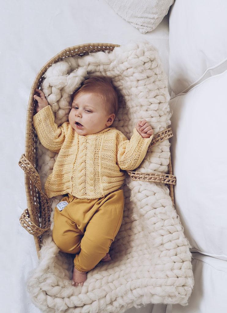 baggy musztardowe niemowlęce