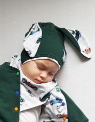 chustka apaszka niemowlęca auta