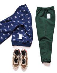 baggy zielone bluza piranie