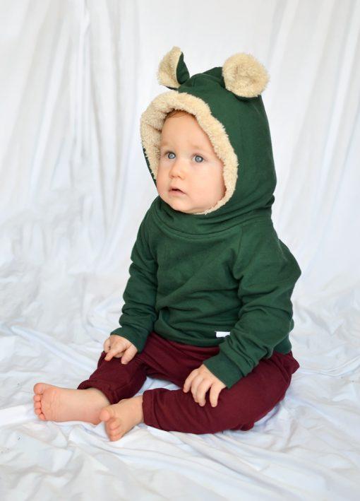 bluza z uszami dla niemowlaka