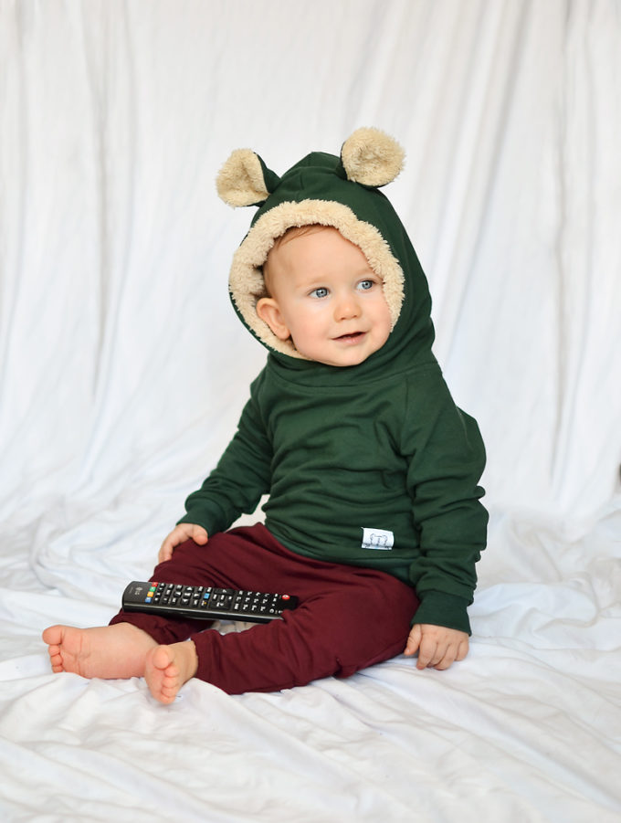 bluza dla chłopca zielona