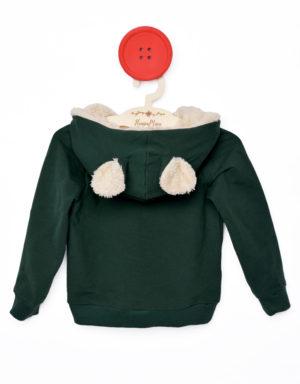 bluza z uszami zielona