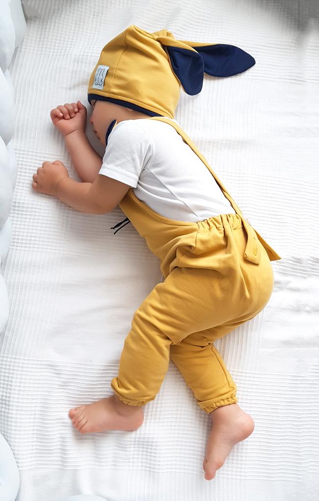 spodnie ogrodniczki niemowlęce muszatrdowe