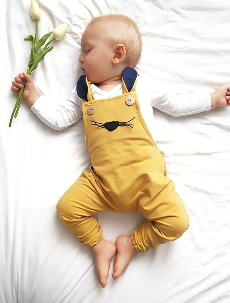 ogrodniczki z uszami dla chłopca