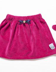 spódnica welurowa dla dziewczynki
