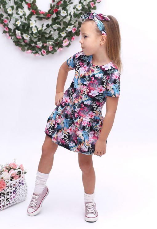 sukienka letnia dla dziewczynki kwiaty
