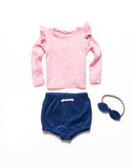 bluzeczka z falbankami różowa