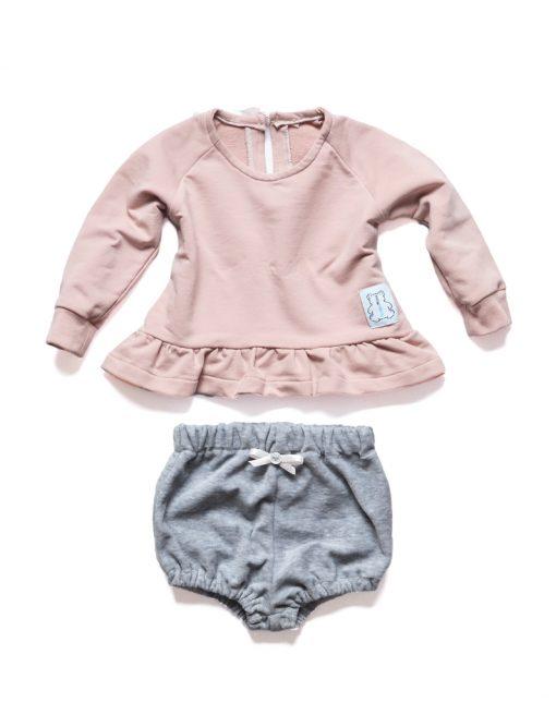 bluza dla niemowlaka rózowa szorty