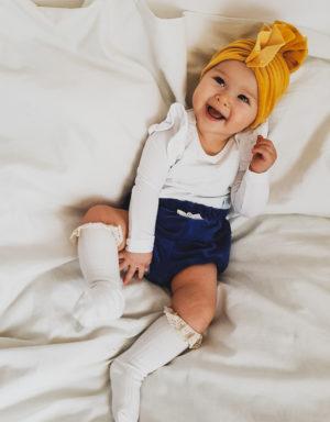 szaorty niemowlęce z weluru