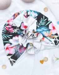turban wiosenny kwiaty dla dziewczynki