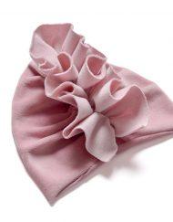 welurowy turban rózowy velvet