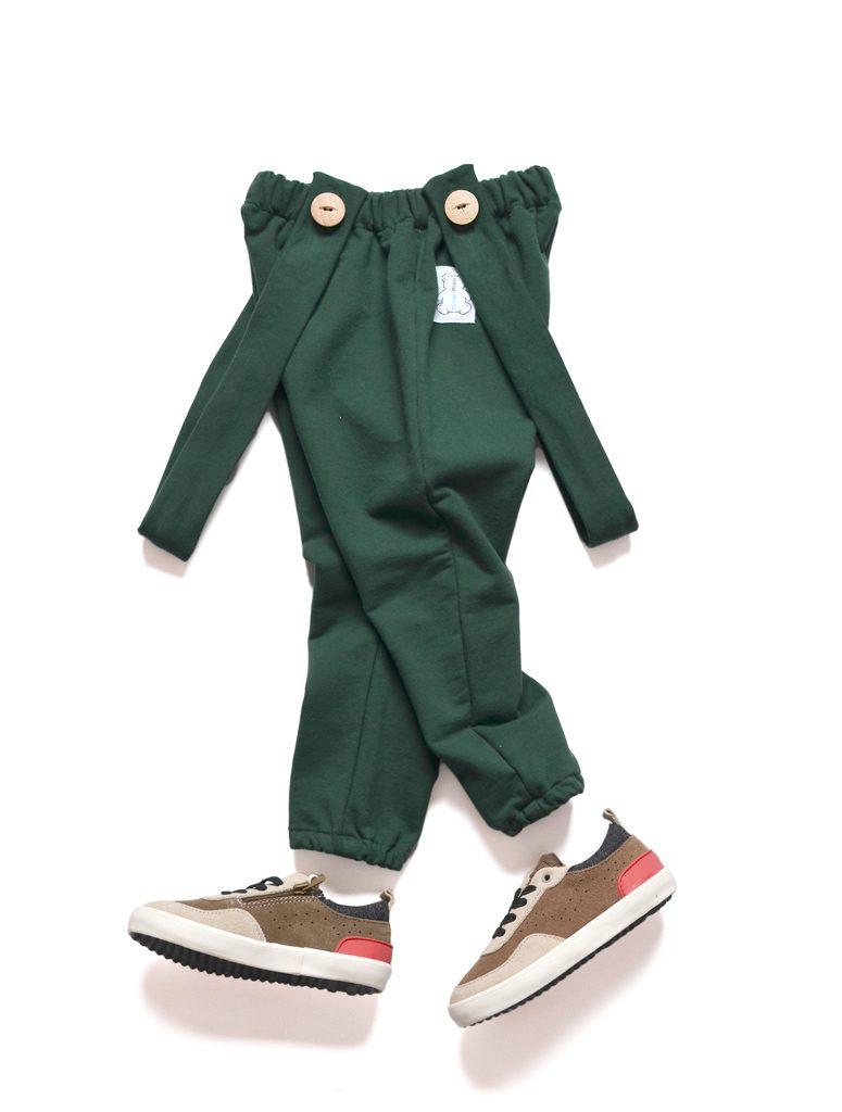 spodnie niemowlęce szelki