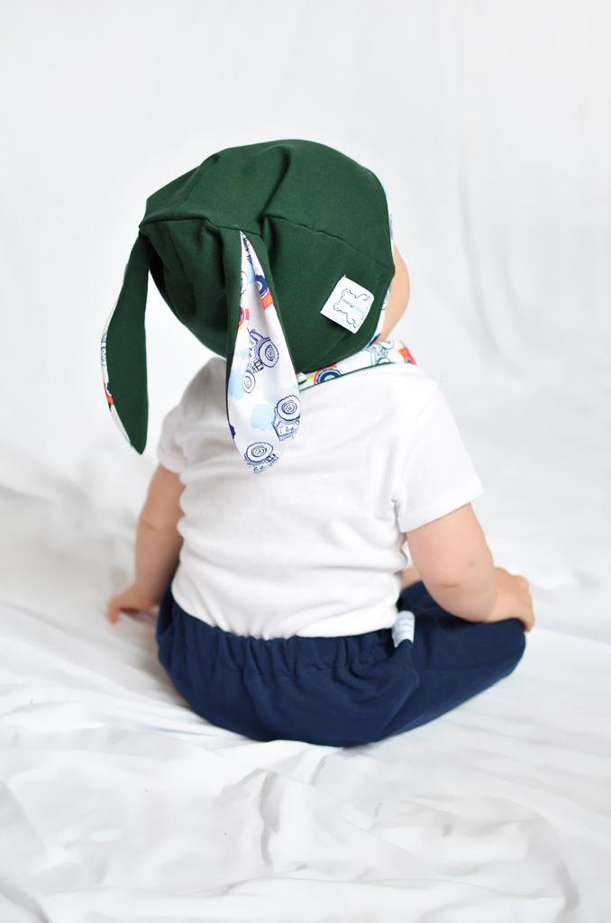 czapka z uszkami chłopięca