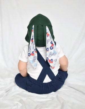 czapka dla dziecka z uszami traktory