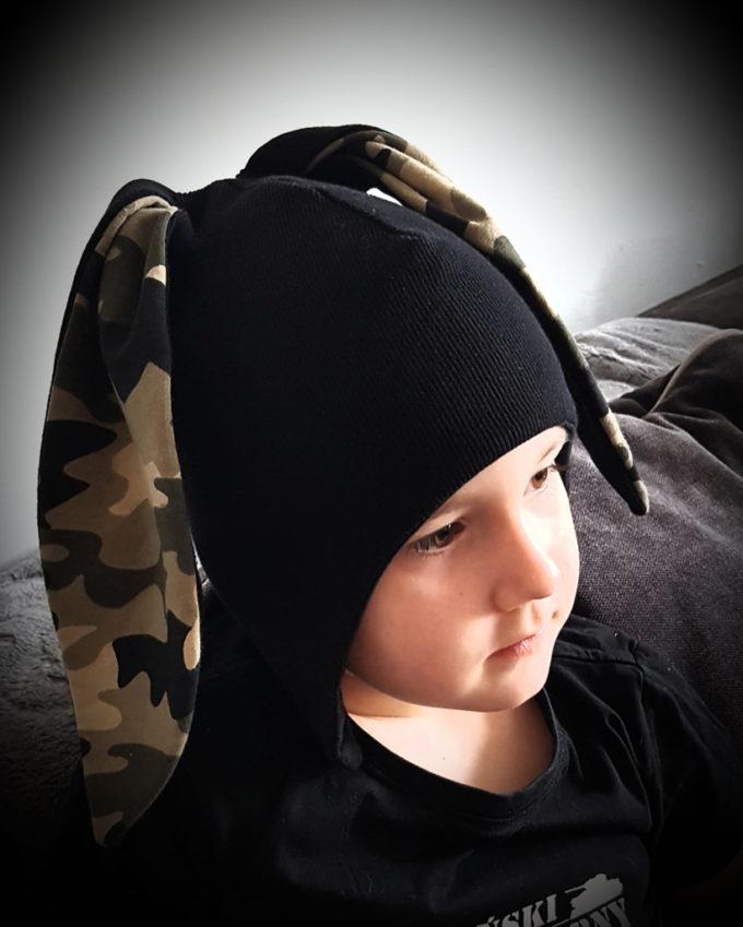 czapka dla chłopca moro