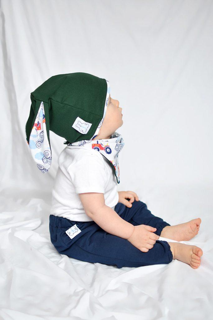 czapka niemowlęca zielona