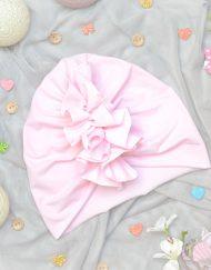 turban dla dziewczynki na lato różówy