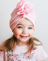 turban różowy na lato
