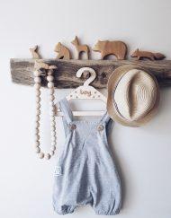 spodnie ogrodniczki na lato dla niemowlaka