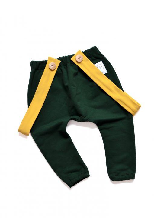 spodnie baggy dla niemowlaka zielone