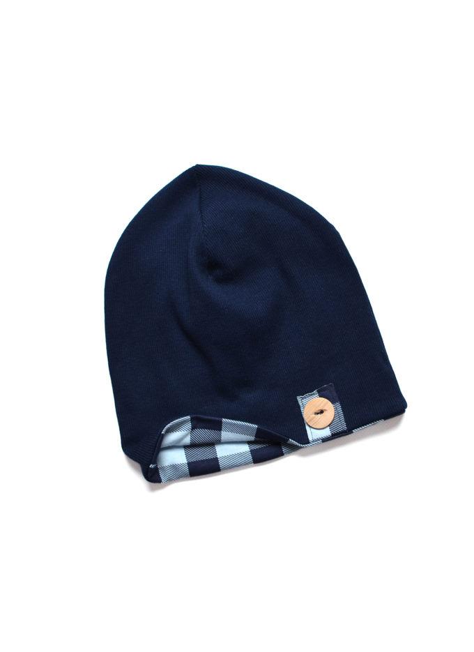 czapka chłopieca granatowa