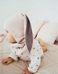 czapka z długimi uszami dla dziecka