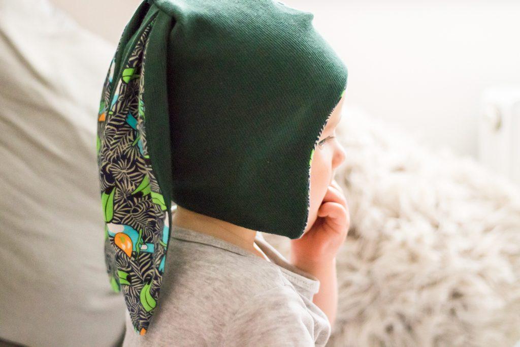 czapka dla dziecka z uszami