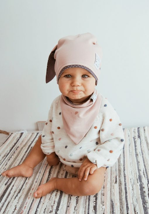 czapka dla dziewczynki z uszami