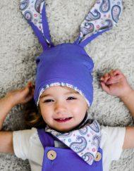 czapka dziewczęca z uszami