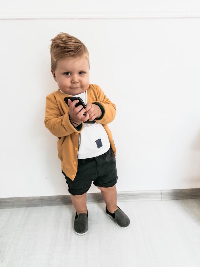 kurtka dla chłopca musztardowa