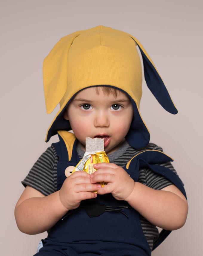 czapka dla chłopca z uszami