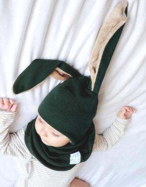 czapka zimowa dziecięca uszy długie