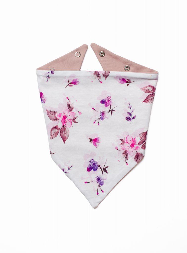 apaszka dla niemowlaka kwiaty