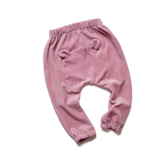welurowe spodnie dla dziewczynki